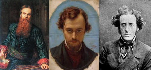 The Pre-Raphaelites - William Holman Hunt, Dante Gabriel Rossetti and John Everett Millais.