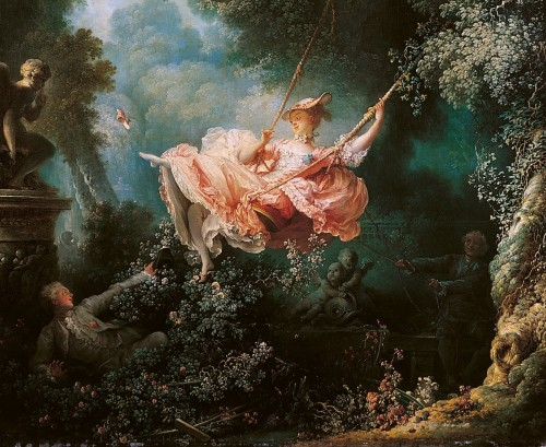 The Swing (cropped) - Jean-Honoré Fragonard 1767