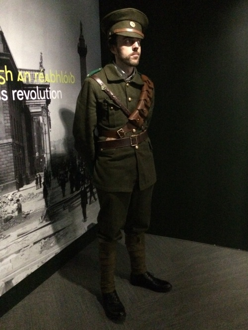 Real fellow at the Museum dressed as an Irish Republican Guard.