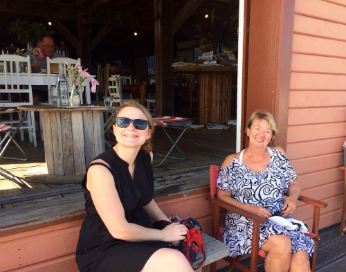 Lauren and Carole at the Tathra Wharf Cafe